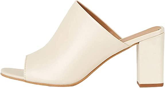 Zapatos de tacón con punta abierta mujer