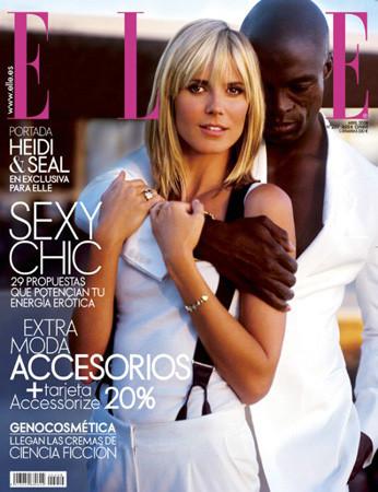 Heidi Klum y Seal portada de Elle