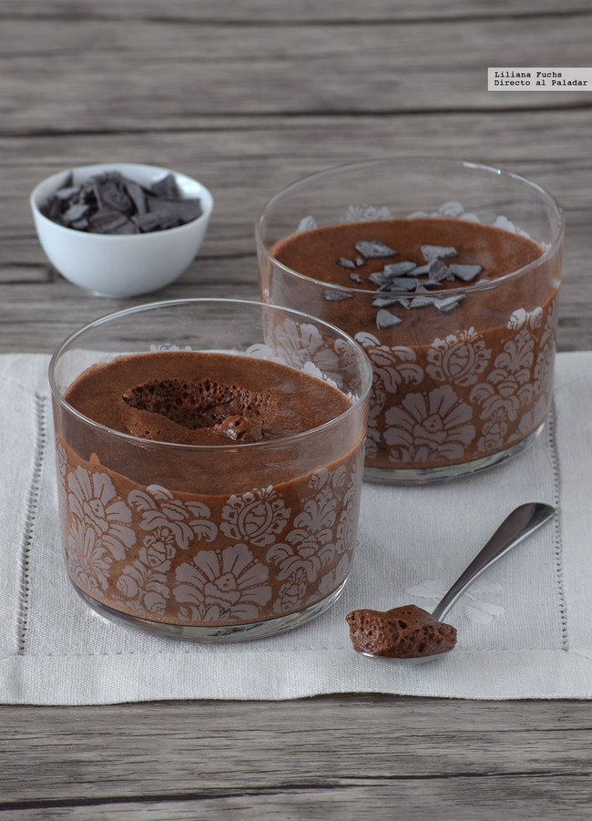 Mousse de chocolate sin huevo