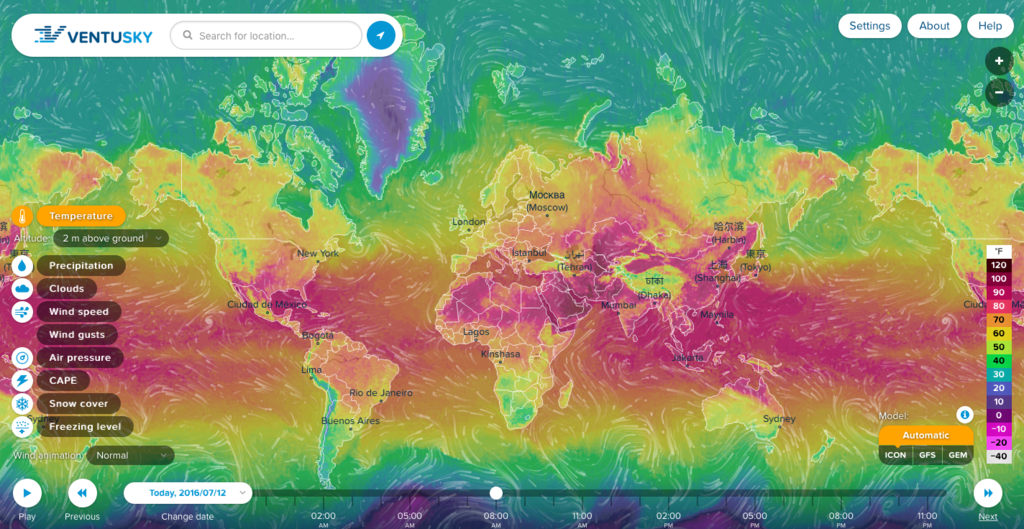 Ventusky Weather Map Geoawesomeness