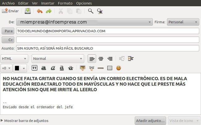 Aprender a redactar correos electrónicos
