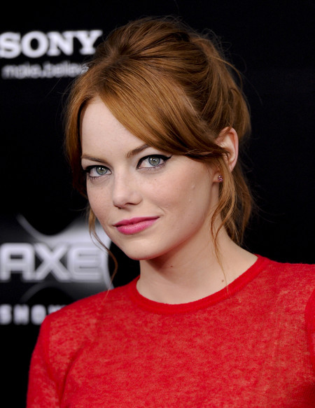 celebrities rubio pelirrojo melena cabello pelo Emma Stone
