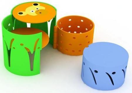 Can-can, un escritorio compacto para los niños