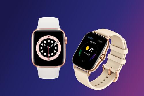 """Apple Watch Series 6 VS Amazfit GTS 2, ¿qué smartwatch comprar? Comparación de características de ambos relojes """"inteligentes"""""""