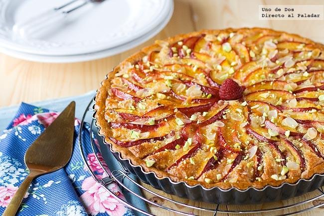 Tarta de nectarinas, receta de verano