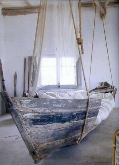 Transformar una barca en una cama
