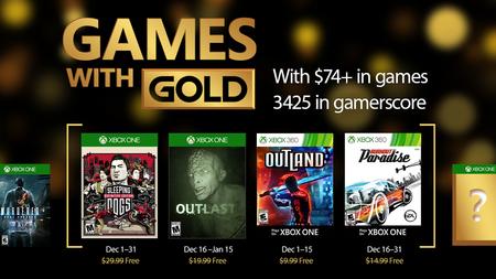 Sleeping Dogs: Definitive Edition y Burnout Paradise entre los juegos de Games With Gold de diciembre