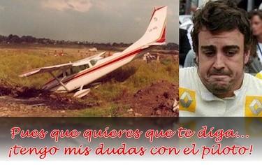 Fernando Alonso y Raquel del Rosario: Pánico en el avión
