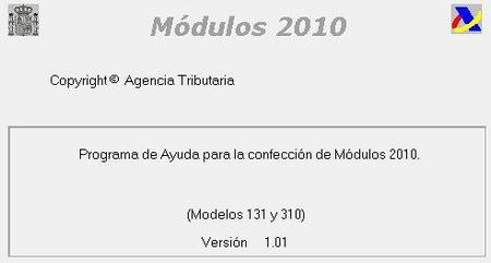 Agencia Tributaria: disponible el software para calcular los módulos 2010