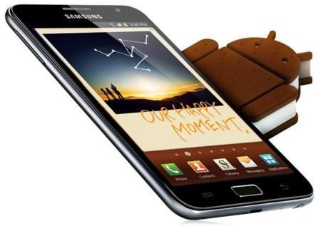 Galaxy Note comienza a recibir Android 4.0 (Ice Cream Sandwich) de forma oficial en España