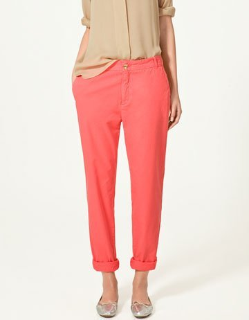 zara pantalon color
