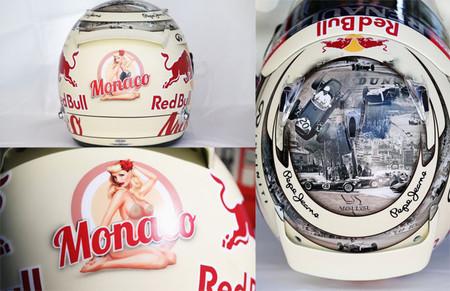 Los pilotos aprovechan el Gran Premio de Mónaco para variar los diseños de sus cascos