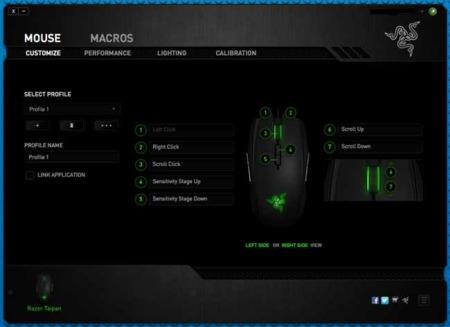 Configuración de los botones del Razer Taipan