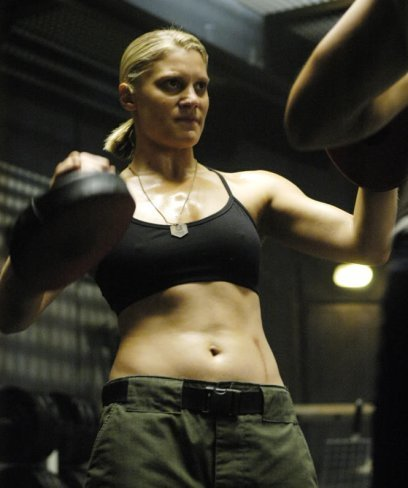 Katee Sackhoff en la serie Battlestar Galactica