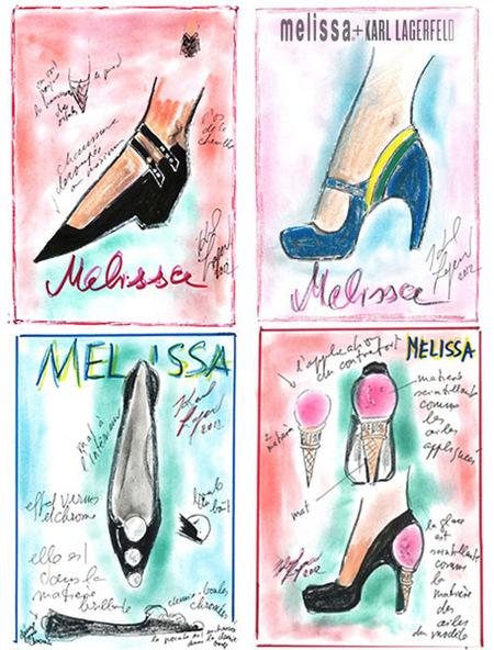 """La """"Capsule Collection"""" de Karl Lagerfeld para Melissa"""