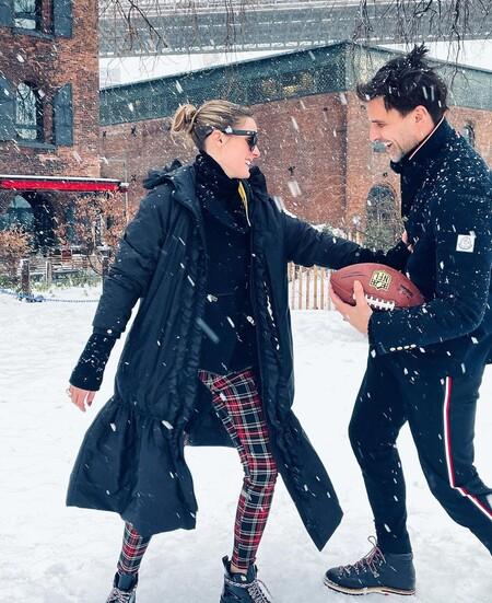 Los leggings de cuadros escoceses de Olivia Palermo tienen un clon económico en Calzedonia