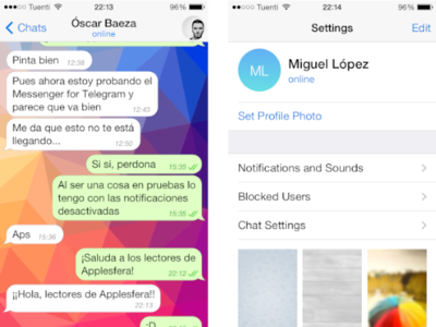 Configurando Telegram en el iPhone, en la web y en el Mac
