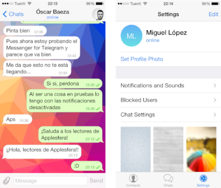 Configurando Telegram en el iPhone, en la web y en el Mac