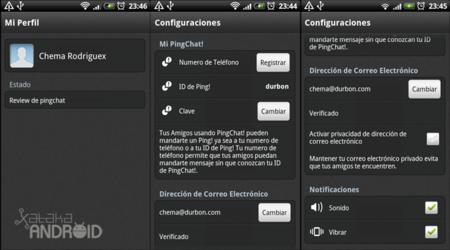 configuracion pingchat
