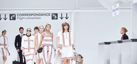 Desfile primavera-verano 2016 Chanel, embarque inmediato por la puerta No.5, first class