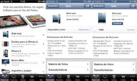 La aplicación oficial de la Apple Store se actualiza con nuevas opciones de envío