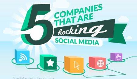 Cinco casos de éxito en social media, la infografía de la semana