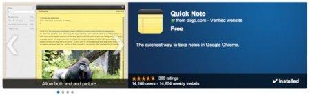 Quick Note, un sencillo pero útil bloc de notas en Google Chrome