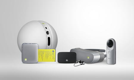 LG Friends, visor de realidad virtual, cámara 360, audífonos y un robot, los acompañantes del LG G5