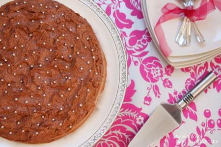 Tarta chocolate con perlitas
