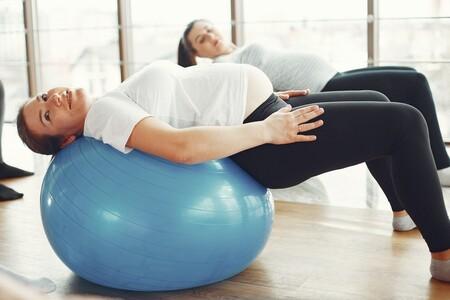 pelota de pilates en el embarazo