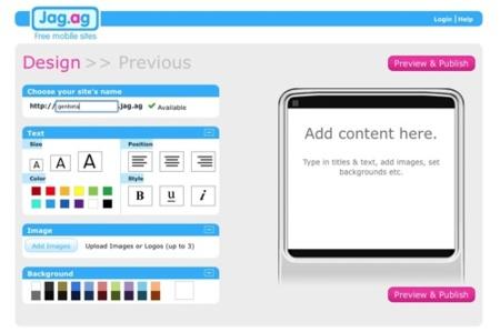 Jag.ag, crea tu sitio web para dispositivos móviles