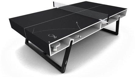 Mesa de ping pong de pizarra