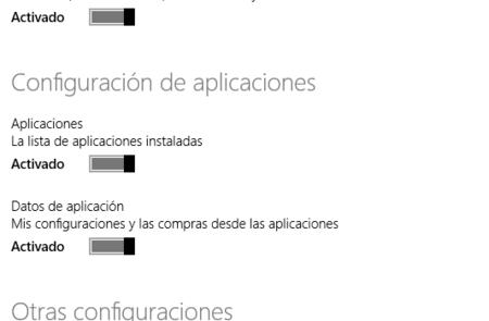 Sincronización de aplicaciones en Windows 8.1