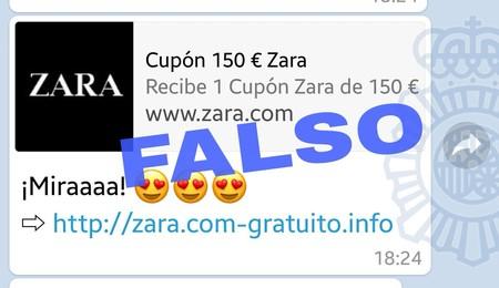 Cuidado con la nueva estafa a través de WhatsApp: el falso cupón de Zara por valor de 150 euros