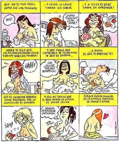 Un poco de humor: lo que nadie te contó sobre la lactancia materna