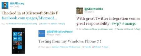 La integración de Twitter en Windows Phone 7 (Mango) en fase de pruebas