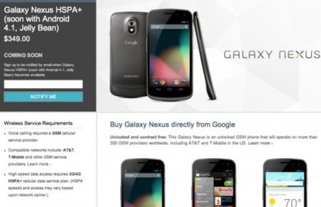Google congela la venta de Galaxy Nexus en Estados Unidos, promete solución