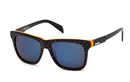 Diesel Gafas De Sol Acetato Negro Naranja