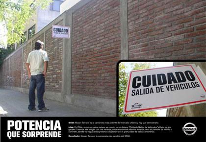 Publicidad del Nissan Terrano en Chile