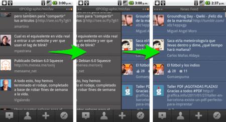 Columnas en TweetDeck Android
