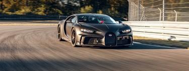 El Bugatti Chiron Pur Sport abandona el confinamiento y sale a estirar las piernas en la pista