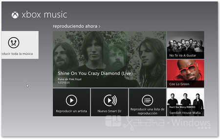 XboxMusic interfaz