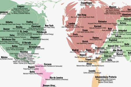 Las 100 personas responsables del 71% de las emisiones contaminantes, en un mapa