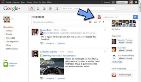 Google+ integra YouTube