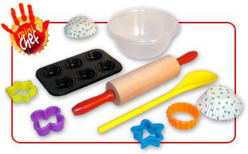 Mini chef kit de cocina para ni os for Herramientas de un cocinero