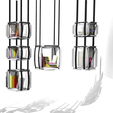 Estanter a colgante para libros - Estanterias originales para libros ...