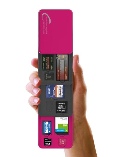 cajita para tarjetas flash