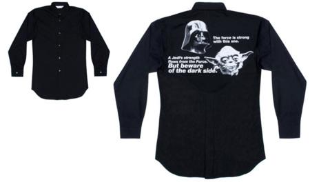 Comme des Garcons Star Wars camisa negra
