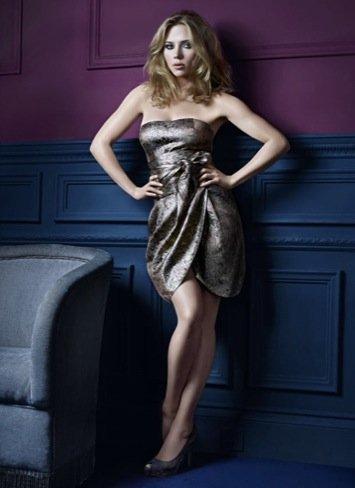 Scarlett Johansson Mango Nochevieja strapless