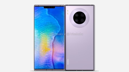 """Así se vería el Huawei Mate 30 Pro: cámara circular, pantalla curva """"envolvente"""" y sin botones de volumen"""